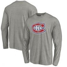 Montreal Canadiens - Distressed Team Tri-Blend NHL Tričko s dlhým rukávom