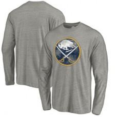 Buffalo Sabres - Distressed Team Tri-Blend NHL Tričko s dlhým rukávom