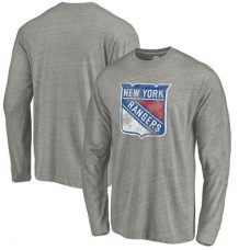 New York Rangers - Distressed Team Tri-Blend NHL Tričko s dlhým rukávom