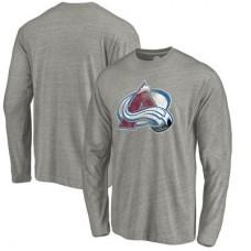 Colorado Avalanche - Distressed Team Tri-Blend NHL Tričko s dlhým rukávom