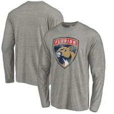 Florida Panthers - Distressed Team Tri-Blend NHL Tričko s dlhým rukávom