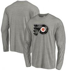 Philadelphia Flyers - Distressed Team Tri-Blend NHL Tričko s dlhým rukávom