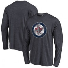 Winnipeg Jets - Distressed Primary Logo NHL Tričko s dlhým rukávom