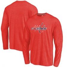 Washington Capitals - Distressed Primary Logo NHL Tričko s dlhým rukávom