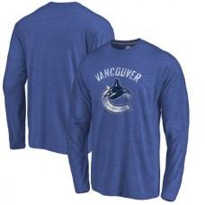 Vancouver Canucks - Distressed Primary Logo NHL Tričko s dlhým rukávom