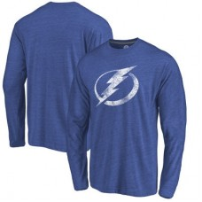 Tampa Bay Lightning - Distressed Primary Logo NHL Tričko s dlhým rukávom