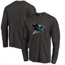 San Jose Sharks - Distressed Primary Logo NHL Tričko s dlhým rukávom