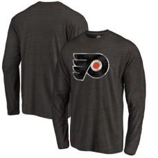 Philadelphia Flyers - Distressed Primary Logo NHL Tričko s dlhým rukávom