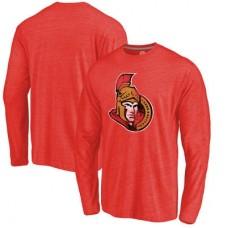 Ottawa Senators - Distressed Primary Logo NHL Tričko s dlhým rukávom