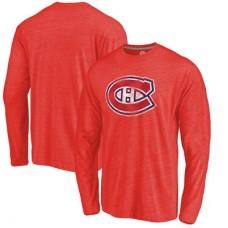 Montreal Canadiens - Distressed Primary Logo NHL Tričko s dlhým rukávom