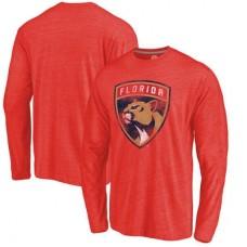 Florida Panthers - Distressed Primary Logo NHL Tričko s dlhým rukávom
