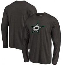 Dallas Stars - Distressed Primary Logo NHL Tričko s dlhým rukávom