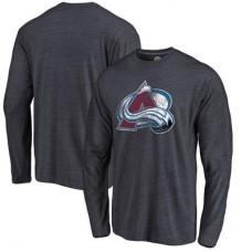 Colorado Avalanche - Distressed Primary Logo NHL Tričko s dlhým rukávom