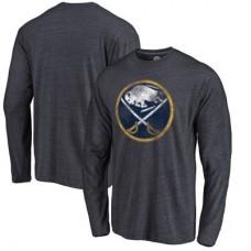 Buffalo Sabres - Distressed Primary Logo NHL Tričko s dlhým rukávom
