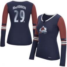 Colorado Avalanche Dámske - Nathan MacKinnon Edge NHL Tričko s dlhým rukávom