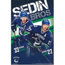 Vancouver Canucks - Sedin Brothers TS NHL Plagát