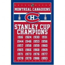 Montreal Canadiens - 24-Time Stanley Cup TS NHL Plagát