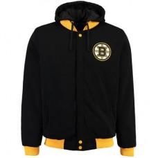 Boston Bruins Detská - Fleece-Nylon Obojstranná NHL Bunda