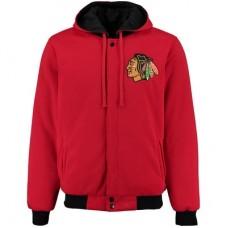 Chicago Blackhawks detské - Fleece-Nylon Obojstranná NHL Bunda