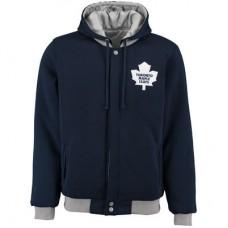 Toronto Maple Leafs detské - Fleece-Nylon Obojstranná NHL Bunda