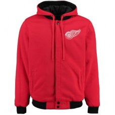 Detroit Red Wings detská - Fleece-Nylon Obojstranná NHL Bunda