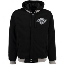 Los Angeles Kings detské - Fleece-Nylon Obojstranná NHL Bunda