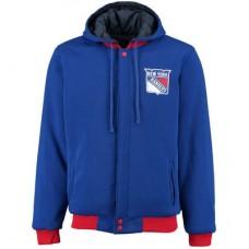 New York Rangers - Fleece-Nylon Obojstranná NHL Bunda