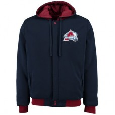 Colorado Avalanche - Fleece-Nylon Obojstranná NHL Bunda