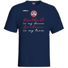 Bavlnené tričko FK Bardejov vz.2 - modrá – tmavomodrá