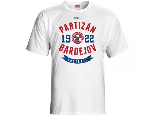 Bavlnené tričko FK Bardejov vz.3 - biela