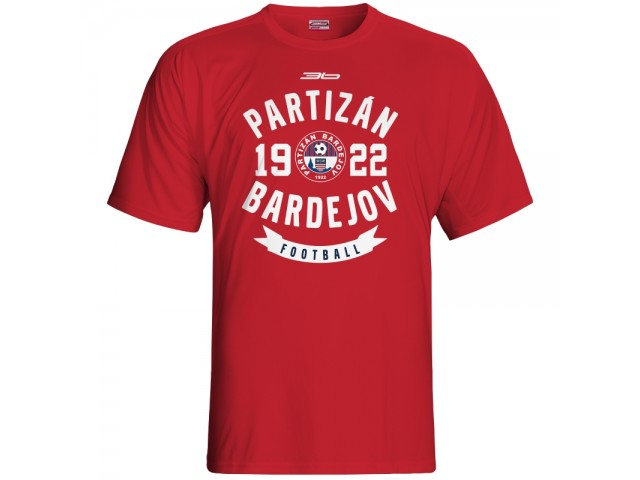 Bavlnené tričko FK Bardejov vz.3 - červená