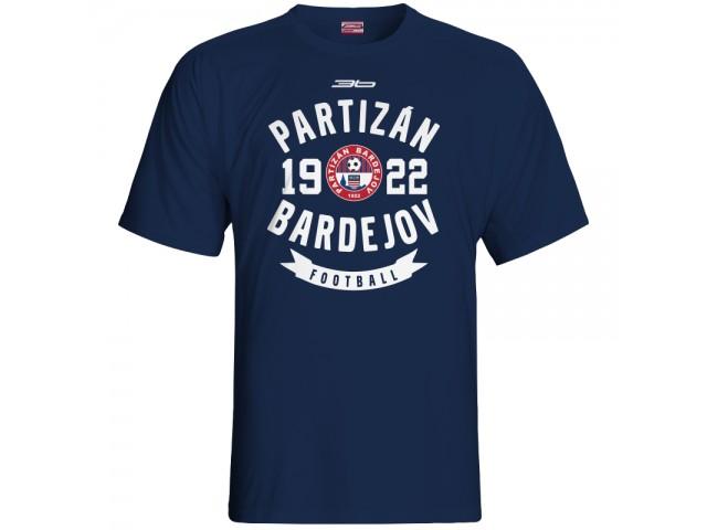 Bavlnené tričko FK Bardejov vz.3 - modrá – tmavomodrá