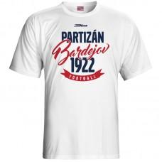 Bavlnené tričko FK Bardejov vz.4 - biela