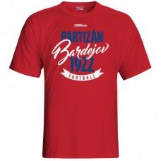 Bavlnené tričko FK Bardejov vz.4 - červená