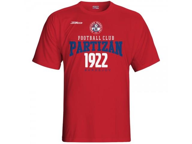 Bavlnené tričko FK Bardejov vz.5 - červená