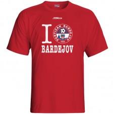 Bavlnené tričko FK Bardejov vz.6 - červená