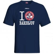 Bavlnené tričko FK Bardejov vz.6 - modrá – tmavomodrá