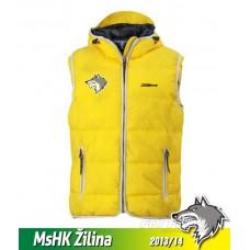 Vesta s výšivkou MsHK Žilina - svetlo žltá