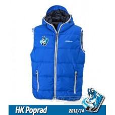 Vesta s výšivkou HK Poprad - royal modrá