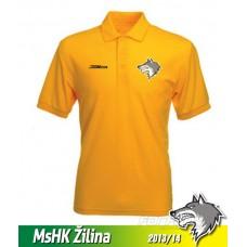 Pánska polokošeľa MsHK Žilina - žltá