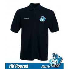 Bavlnená polokošeľa HK Poprad - modrá–tmavomodrá