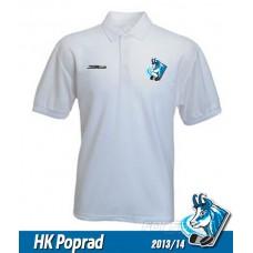 Bavlnená polokošeľa HK Poprad - biela