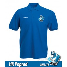 Bavlnená polokošeľa HK Poprad - royal modrá