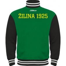 Tepláková mikina na zips MsHK Žilina - zelená