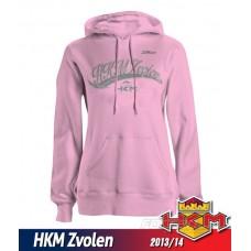 Dámska mikina s kapucnou HKM Zvolen 2013/14 vz. 1 - ružová