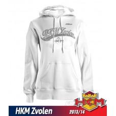 Dámska mikina s kapucnou HKM Zvolen 2013/14 vz. 1 - biela