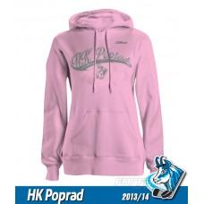 Bavlnená dámska mikina HK Poprad 2013/14 - ružová