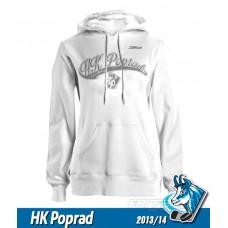 Bavlnená dámska mikina HK Poprad 2013/14 - biela