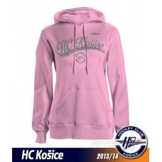 Dámska mikina HC Košice 2013/14 - ružová