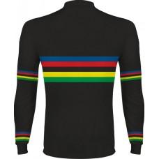 Dúhový cyklo dres - dlhý rukáv - čierna